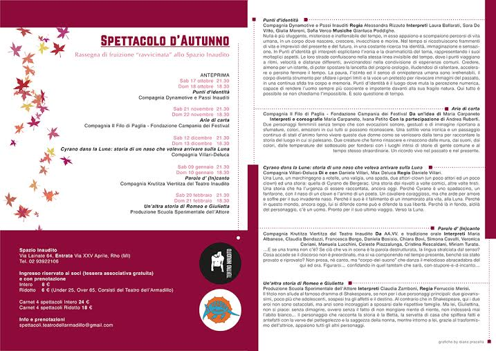 Flyer Spettacolo D'Autunno 2015-2016 Low Quality