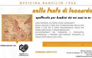 Nella testa di Leonardo Officine Rancilio