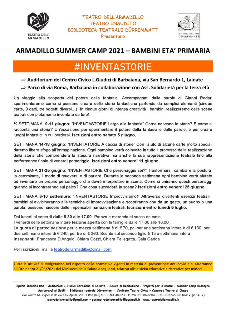 Armadillo Summer Camp 2021 - Bambini
