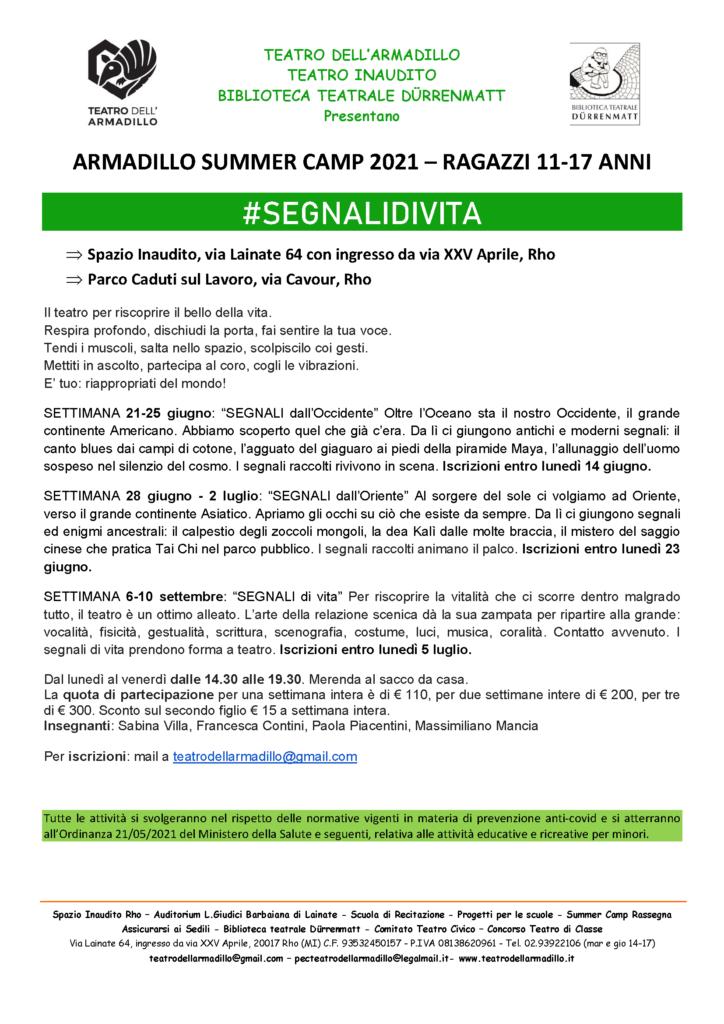 Armadillo Summer Camp 2021 - Ragazzi