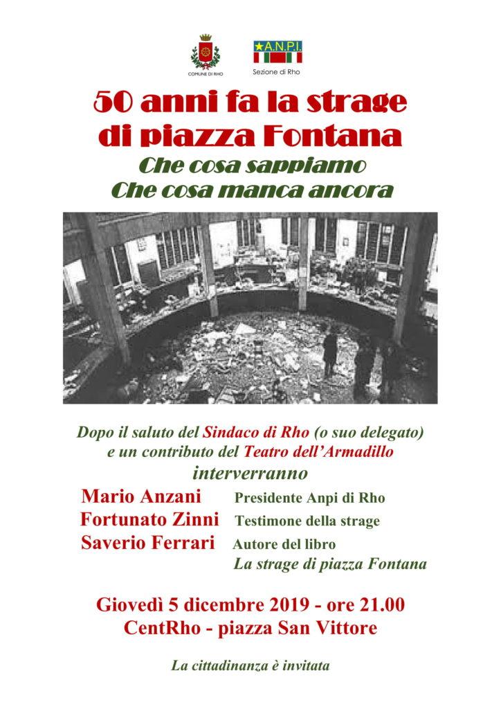 Locandina 50 anni piazza Fontana